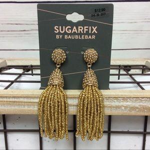 NWT [Sugarfix by BaubleBar] Gold Tassel Earrings